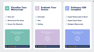 fictionary story editor sections